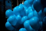 Autism March awareness balloons