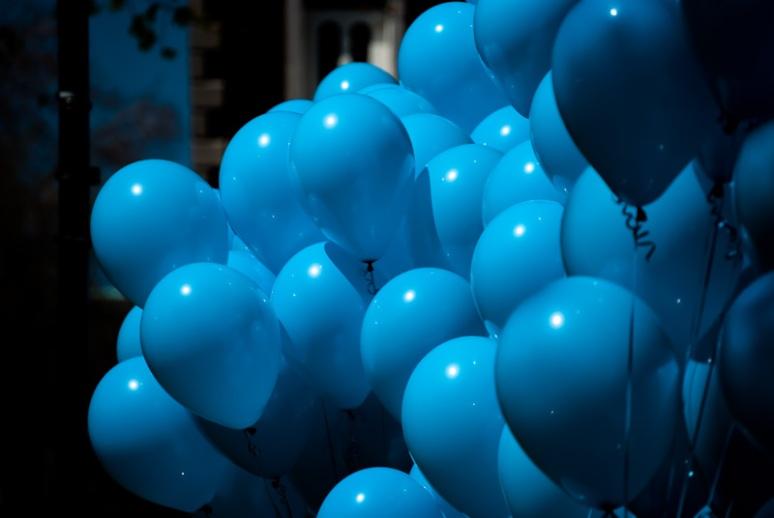Autism March awareness balloons