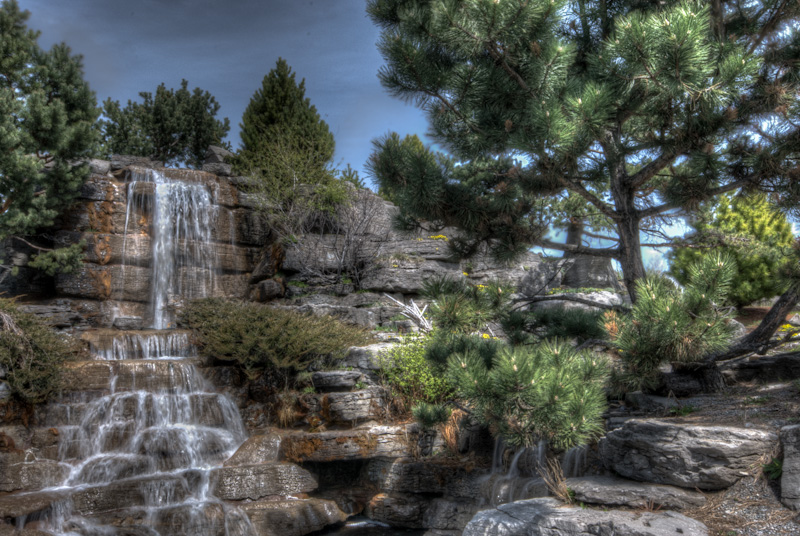 Waterfall in the Alpine Garden