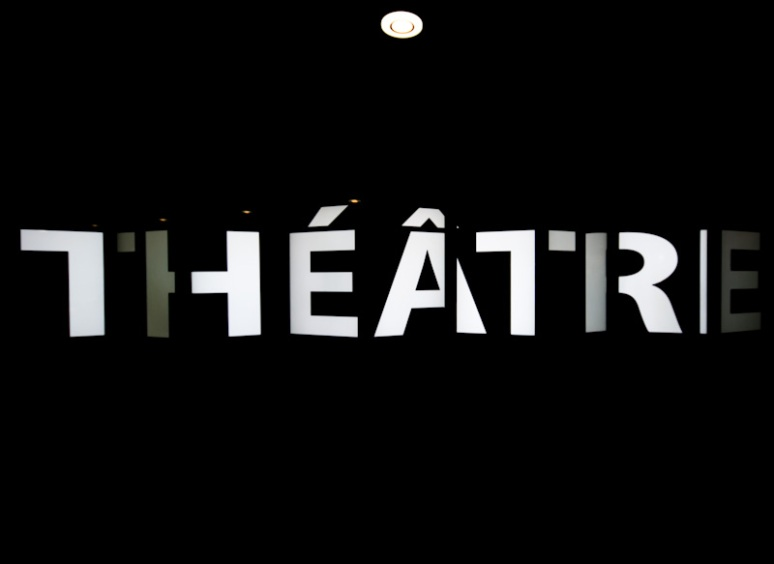 Theater video wall sign