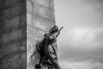 Flag bearing soldier on the George Étienne Cartier monument