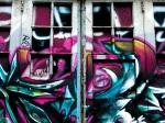 Graffiti on building near place des Festivals