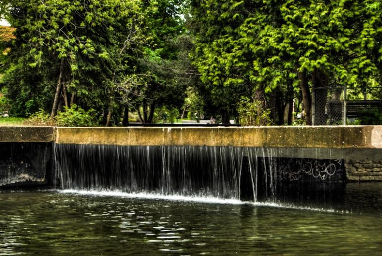 Water fall in Westmount Park