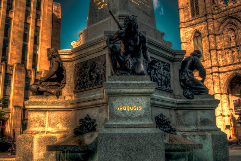 Maisonneuve Monument at Place d'Armes