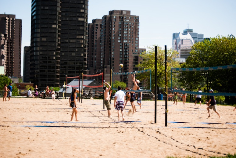Jeanne Mance Park Beach Volleyball Courts