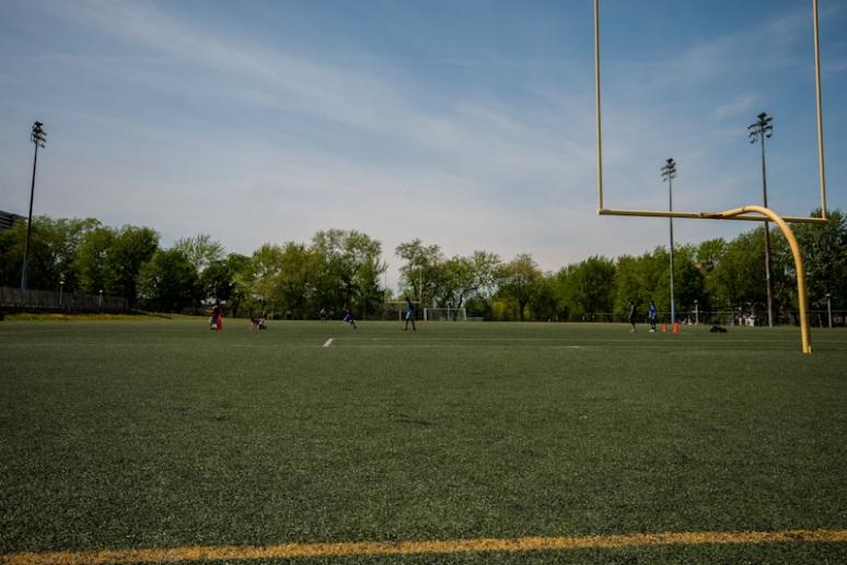 Jeanne Mance Park Astro turf football field