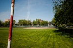 2 baseball diamonds at Jeanne Mance Park