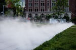 Steam Fountain on the Parterre in Le Quartier des Spectacles