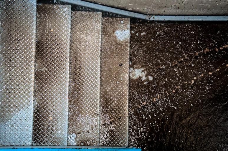 Stairs leading to La Cité underground car park