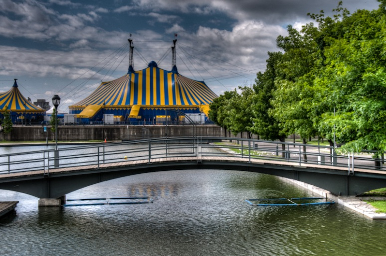 Bassin Bonsecours with Cirque du Soleil Big Top