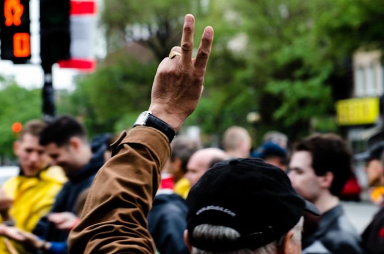 Peace salute