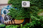 Air conditioner in ivy