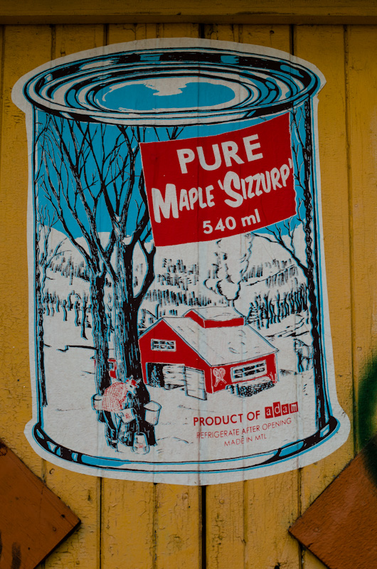 Old Maple Syrup sign