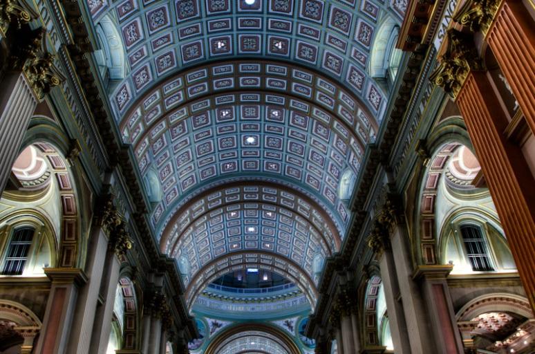 Basilique Marie-Reine-du-Monde Ceiling detail