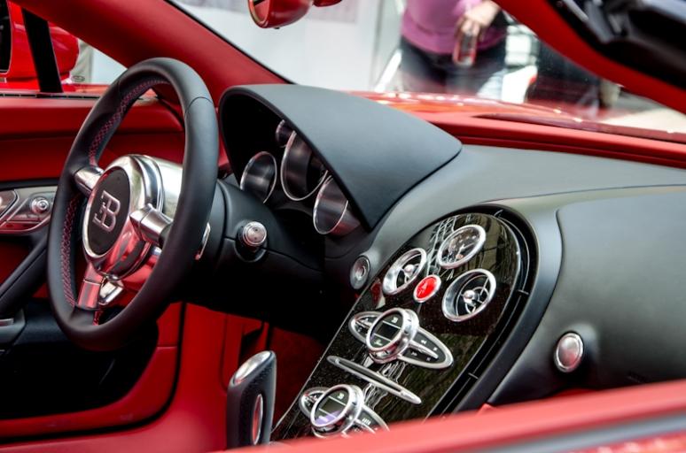 Inside a Bugatti Veyron