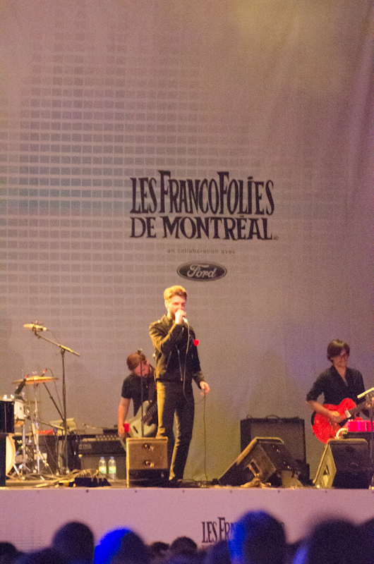 Pierre Lapointe at 2012 FrancoFolies