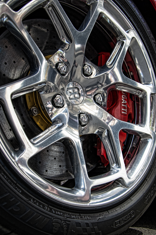 A very expensive Bugatti wheel