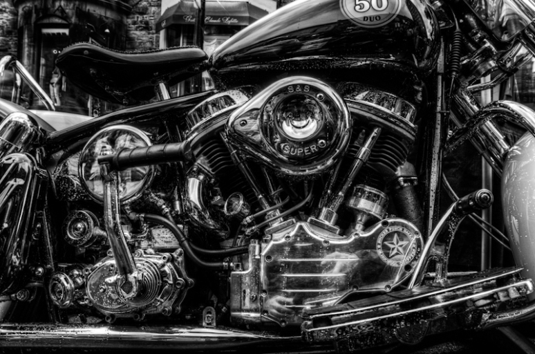 HDR of Harley Davidson chrome