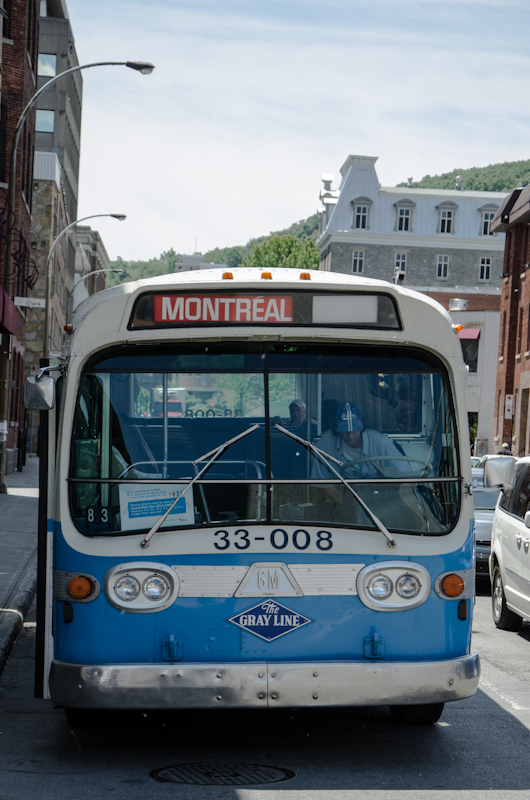 Front of an old Montreal bus