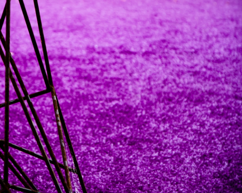 Purple artificial grass