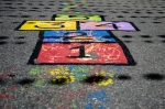 Colorful street painting