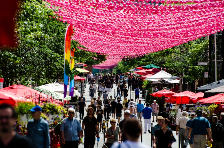 Rue Sainte Catherine in the Gay Village
