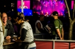 One of the busy beer stands at Francofolies