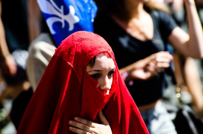 Red Burqa