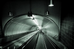 Moving walkway at Beaudry Metro