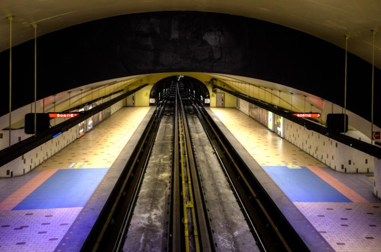 Beaudry Metro - Westbound