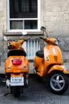 Matching Orange Vespa's