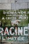 Racine sign on rue de la Commune