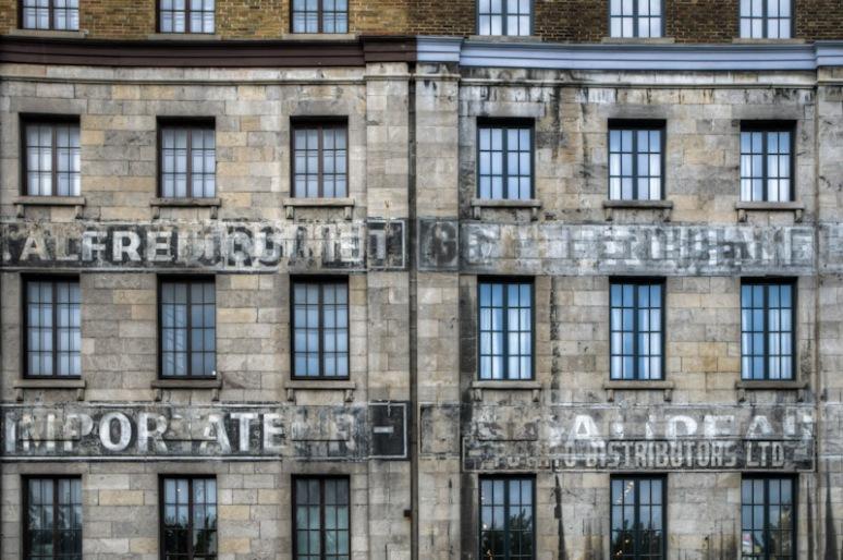 Old business signs on rue de la Commune