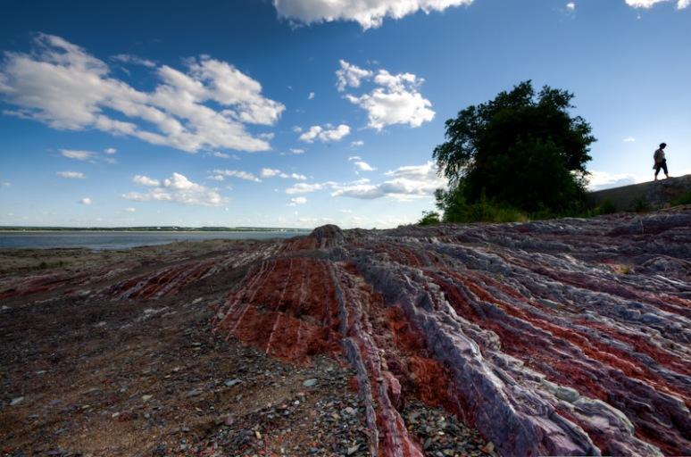 Rock formation on Île-d'Orléans