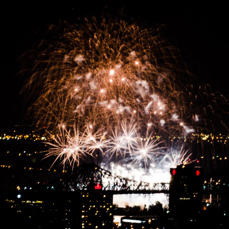 Firework competition seen from Mount Royal