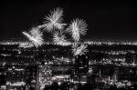 Black and White Firework shot