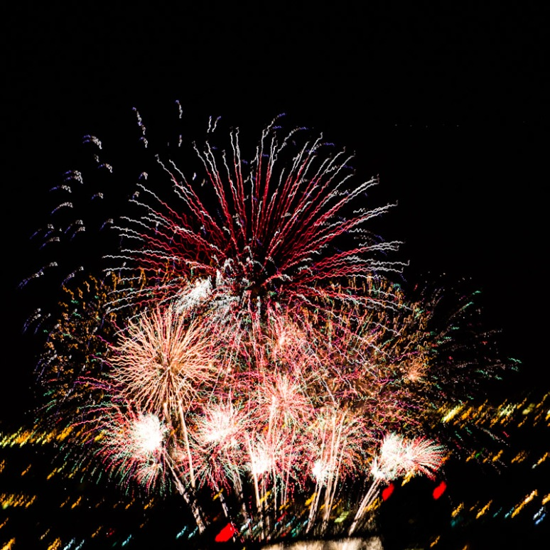 Multiple exposure firework experiment