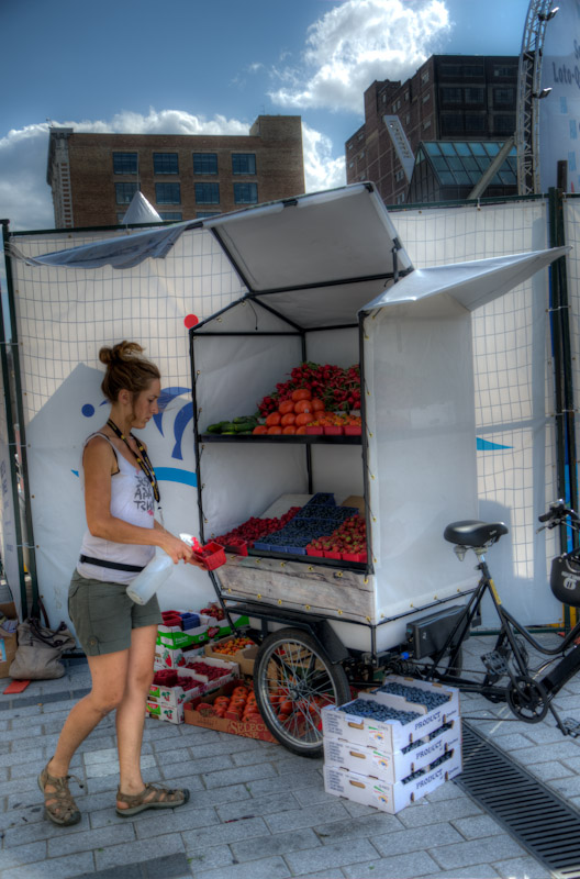 Fresh fruit from the back of a bike