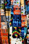 Colorful fabrics at the Timbuktu market