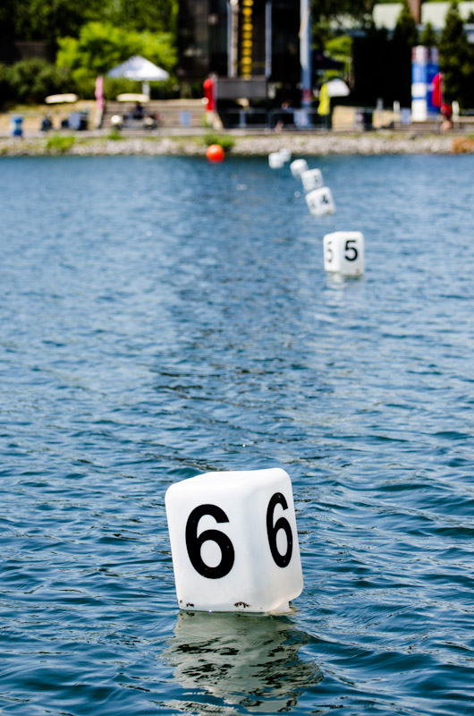 Finish line at the Montreal International Dragon Boat Racing Festival