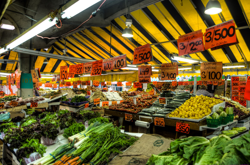 Vegetable store at Jean Talon Market