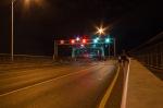 Jacques Cartier bridge on firework night