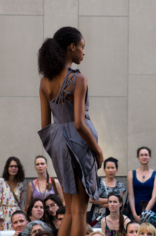 Model at the LaSalle College MFDF fashion show