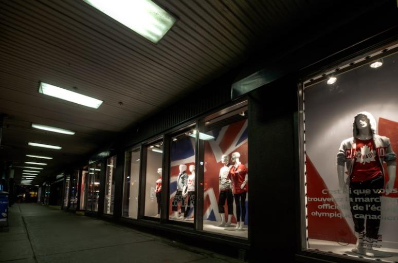 La Baie Olympic window display