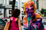 Yarn bombing on Sherbrooke street