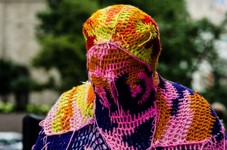 Yarn bombing on Sherbrooke street