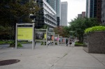 Living Landscapes exhibition on McGill College ave