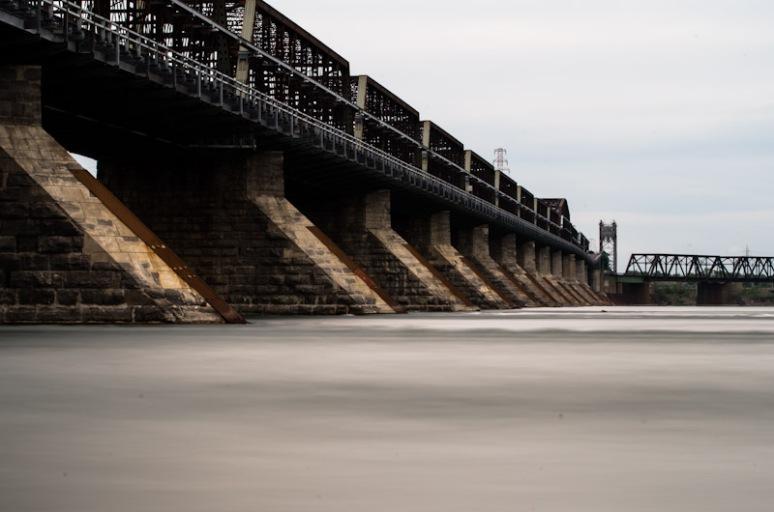 Victoria Bridge - Ice breaking piers