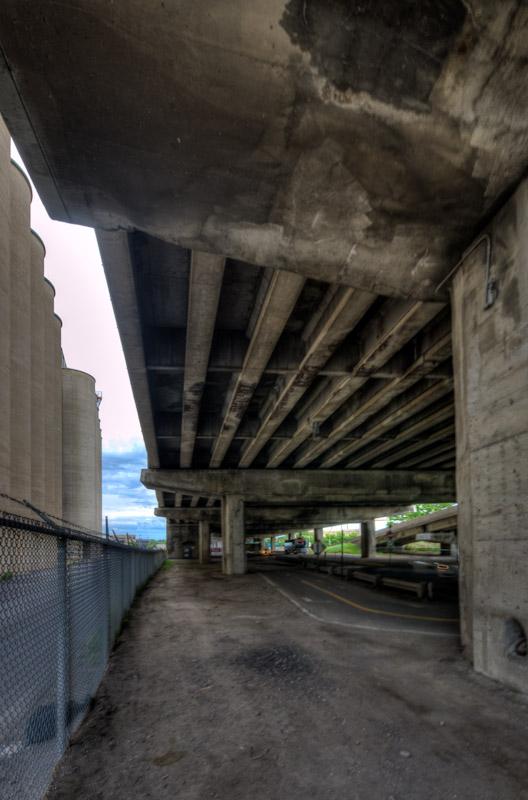 Beneath the Bonaventure Expressway