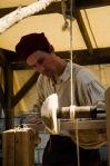 Woodworking at Le Marché Public de Pointe-à-Callière
